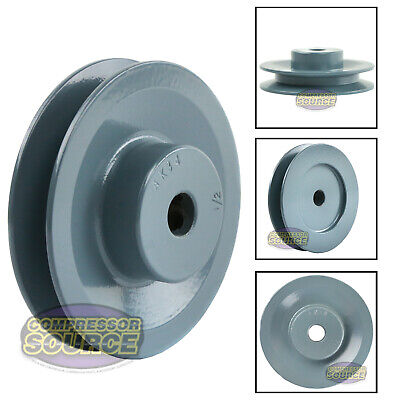 3.5 Cast Iron 12 Shaft Pulley Sheave Single 1 Groove V Style A Belt 4l New