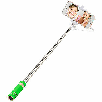 New Selfie Stick Wired Phone Holder Remote Extendable Monopod for...