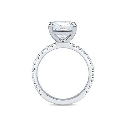 Conflict Free 1.70 Ct Cushion Cut Diamond Pave Engagement Ring GIA G,VS2 14K WG 7