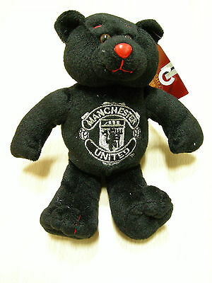 NEW Manchester United FC Official Beanie Teddy Bear Black