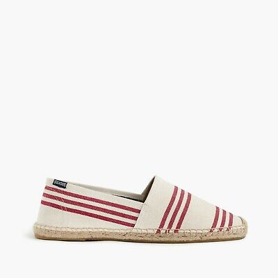 Soludos for J. Crew Men's Espadrilles in Natural Chili Red 10M G3323