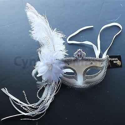 Venetian Masquerade Mask w/Ostrich Feathers 6+ Colors to pick up Mardi Gras Mardi Gras Pick