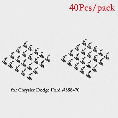 40Pcs Door Panel Clips for Mopar Chrysler Dodge Plymouth Trim Panel Retainers