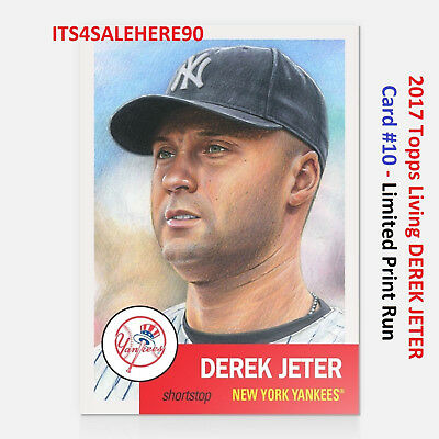 2018 Topps Now Living  Card  10  Derek Jeter Yankees Legend  Limited Print Run