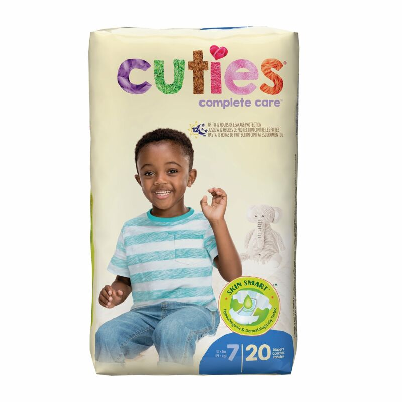 Cuties Essential Baby Diaper Size 7 Over 41 lbs. CRD701 20 Ct