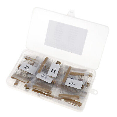 400 Pcs 16values 5 12w Carbon Film Resistors Assortment Kit 10ohm-1m Ohm