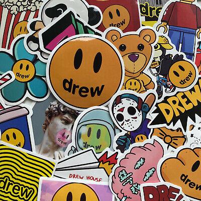 Drew House Justin Bieber Sticker Set Of 80 New Glossy Vinyl Skateboard Decal