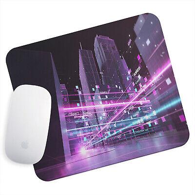 Uk Seller Anti-slip Gamimg Mouse Pad Mat Pc Laptop Pink Blue Black City