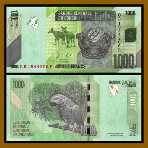 Congo Democratic Republic 1000 (1,000) Francs, 2013 P-101 Unc