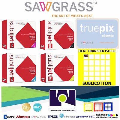 Super Quality Sawgrass Combo Ink Set Cmyk 100 Sh Each Truepix Sublicotton