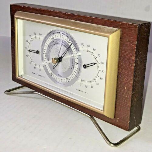 Vtg TAYLOR STORMOGUIDE Desktop Weather Station MID CENTURY Barometer Temp Humid