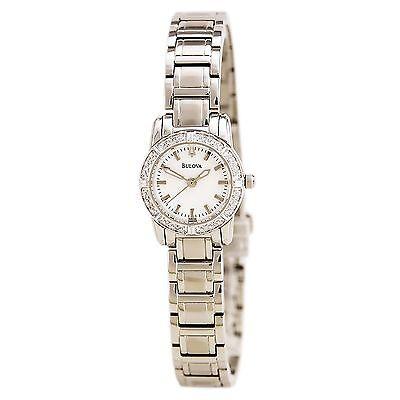 Bulova Women's 96R156 Diamond Bezel Quartz Stainless Steel Dress Watch