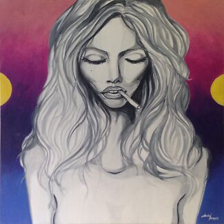 Kate Moss Inspired Painting