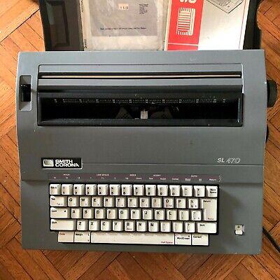 Vtg. Smith Corona Sl470 Portableelectric Typewriter Manual Cover Collectible