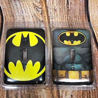 New 2 Open Road Brand Batman Light Switch Plate Licensed Home Accents / Decor Accent Wall Plates Decorative Steel