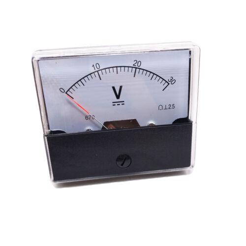US Stock Analog Panel Volt Voltage Meter Voltmeter Gauge DH-670 0-30V DC