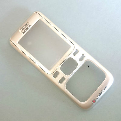 100% Genuine Nokia 6234 silver front+power button+ screen lens fascia housing