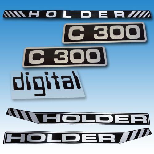 Aufkleber-Satz Aufklebersatz Aufkleber Holder C 300 Digital Traktor Schlepper  Foto 1