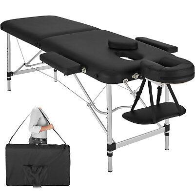 Camilla de masaje en aluminio mesa banco de masaje 2 zonas negro...