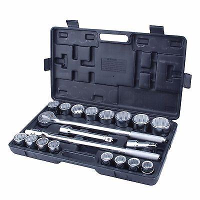 Steel Core 21pc 3/4in Drive Heavy Duty Jumbo Socket Set with Case 4in Drive Standard Socket