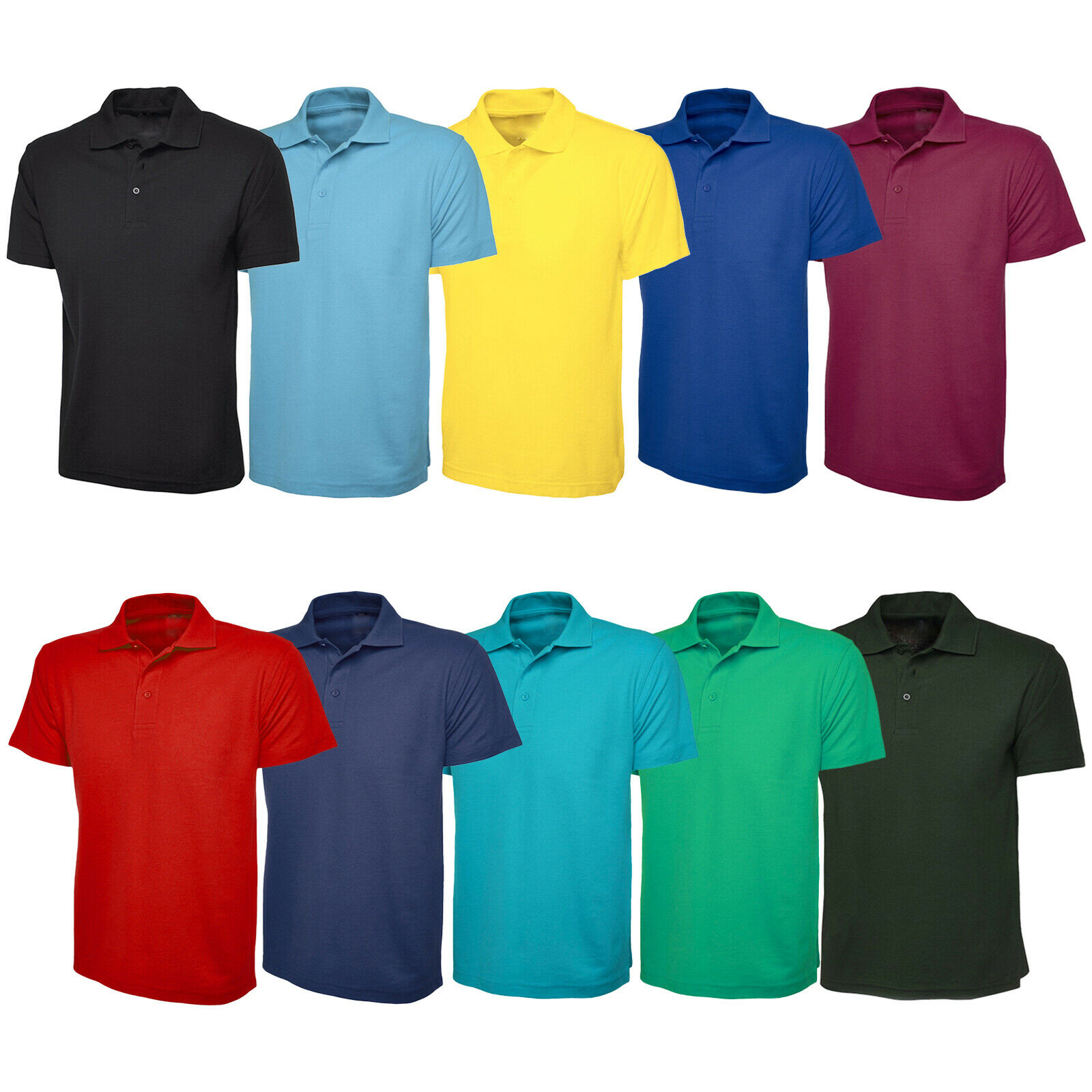 7a305b991 Boys & Girls Plain Cotton Polo Shirts Children School T-Shirts ...