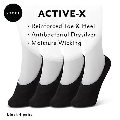 Best Women's No-Show Socks for Casual Shoes -Sheec Active X Mid Cut (4