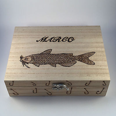 Personalized Tackle Box (Fishing Tackle/Float Box With camo inlay Personalised Gift For Him Fathers)