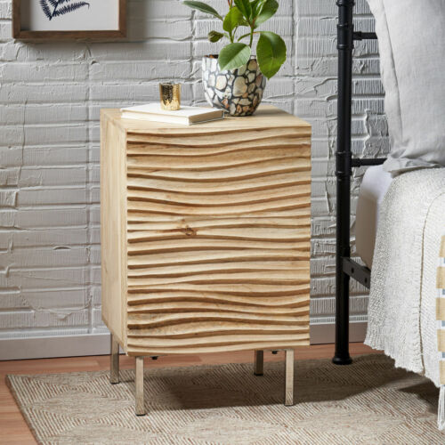Lesley Modern Mango Wood and Iron Side Table Furniture