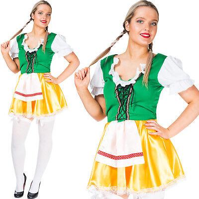 German Wench Costume (Oktoberfest Wench Costume German Bavarian Beer Girl Maid Womens Fancy)