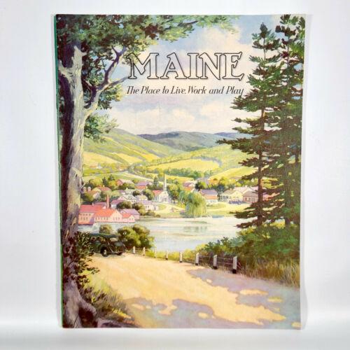 1939 Maine Travel Booklet Vintage Photos New York World's Fair Live Work Play