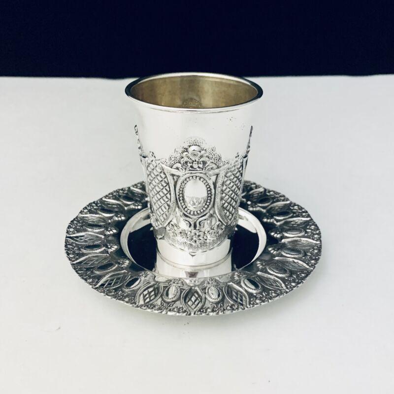 925 STERLING SILVER MIRROR KIDDUSH CUP SET