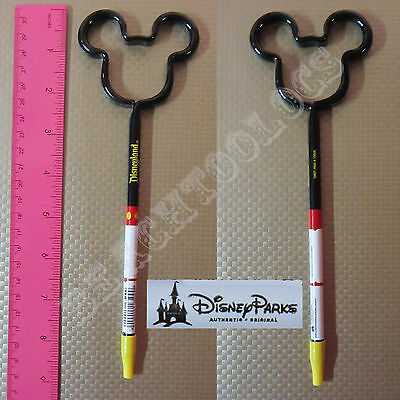 New Authentic Original Disney Black / Red Mickey Mouse Outline Stick Pen - Gift