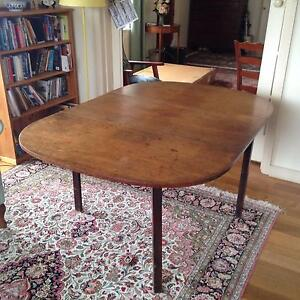 Antigue (Georgian) drop leaf dining table Sandy Bay Hobart City Preview