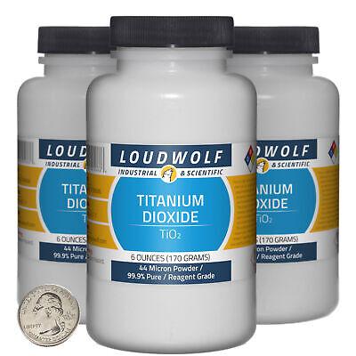 Titanium Dioxide 1.1 Lbs 3 Bottles 99.9 Reagent Grade 44 Micron Powder