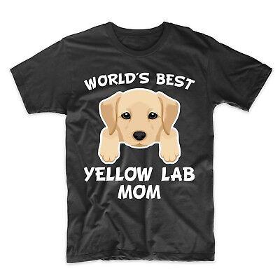 Yellow Lab Mom Shirt - World's Best Yellow Lab Mom Dog Owner T-Shirt