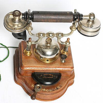Rarität L.M. Ericsson Tischtelefon Telefon mit Selbstwahleinrichtung um 1900