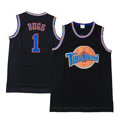 Bugs Bunny Tune Squad Trikot Space Jam Basketball Movie Uniform Kostüm Black 1