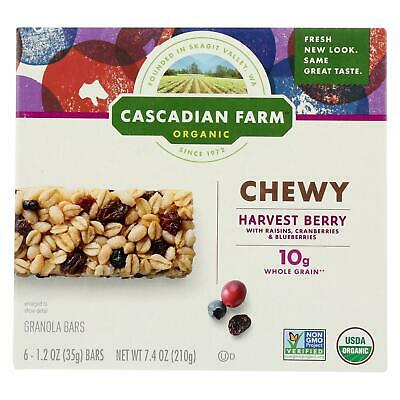 Cascadian Farms Organic Granola Bars (Cascadian Farm Organic Chewy Granola Bars - Harvest Berry - Box of 12 - 7.4)