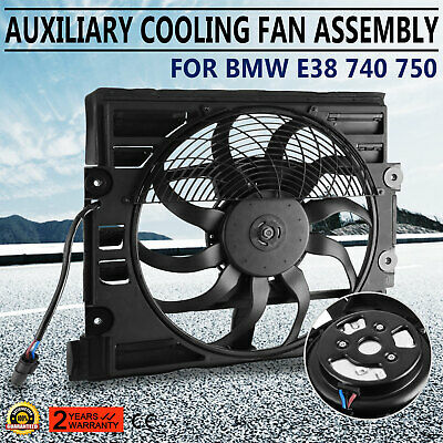 Get Fit BMW E38 740 750 Auxiliary Cooling Fan Motor Assembly 64548380774 Pop Bmw Auxiliary Fan Assembly
