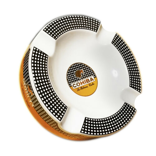 Cigar Ashtray Big Ceramic Ashtray for 4 Round Cigarettes Large Rest Unbreakable