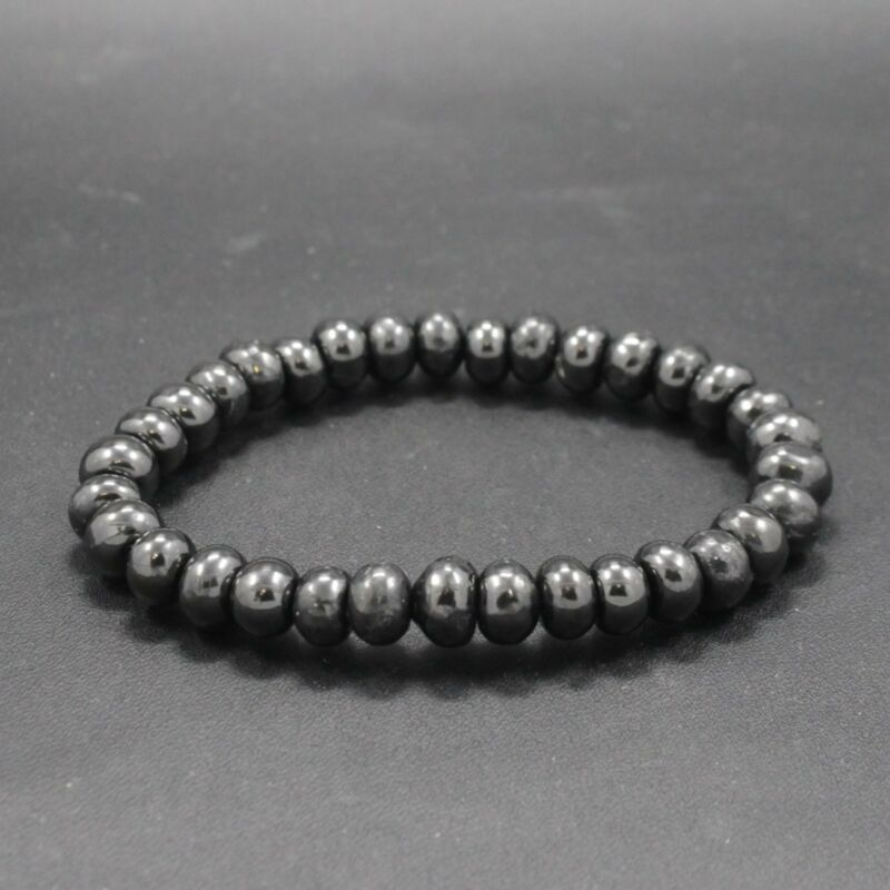Shungite bracelet rondel Shungite chakra | PolyBull com