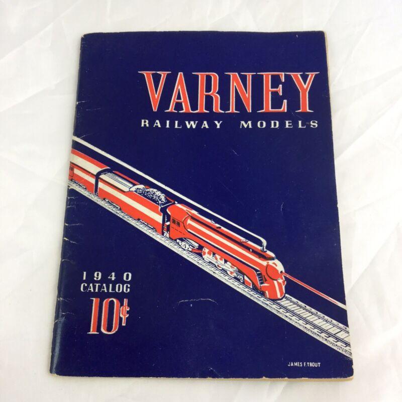 Varney Railway Models 1940 Catalog James Trout HO Trains Vintage Retro Catalogue