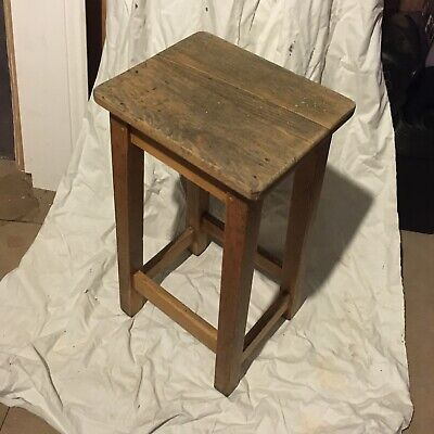 vintage school lab stool C