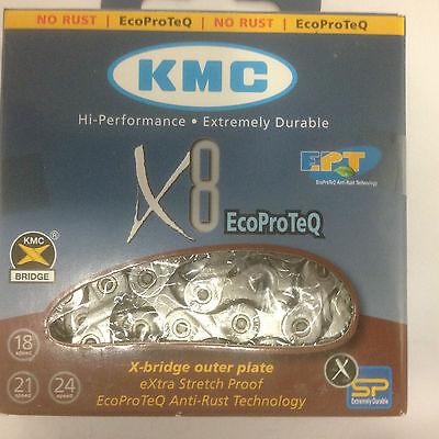 KMC X8EPT  8-fach Kette für MTB, Race, Trekking (EcoProTeQ)