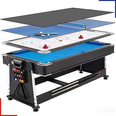 7ft Revolver Full Size 3-in-1 Pool / Air Hockey / Table Tennis Family Game
