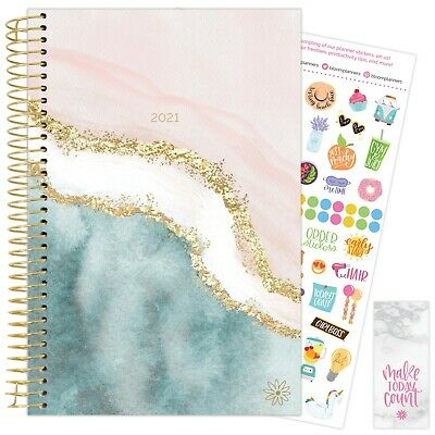 2021 Daydream Believer Calendar Year Daily Planner Agenda 12 Month Jan - Dec