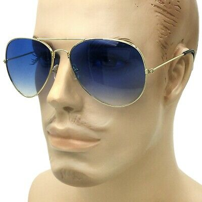 Ocean Blue Lens Tint Men Women SUNGLASSES CLASSIC RETRO AVIATOR Style Gold (Ocean Blue Sunglasses)