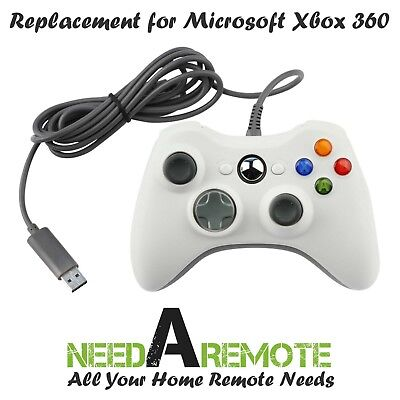 White USB Video Game Controller Joy Pad for Microsoft Xbox 360 Mac PC Computer
