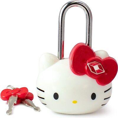 Hello Kitty TSA Approved Padlock - Girls TSA Keyed Luggage Lock, 1.5 Inch Wide