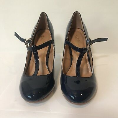 Journey Collection Womens T strap Classic Pumps New Round Toe 7.5 - Womens Classic Collection